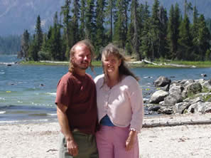 tadd and julie at lake wenatchee